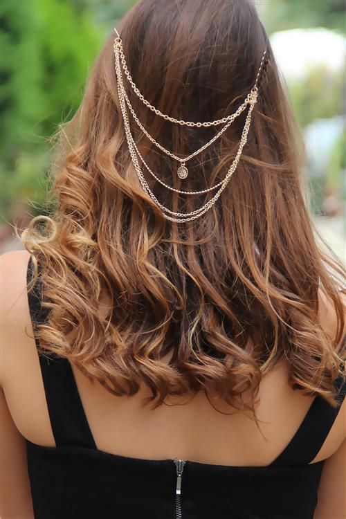 Zincirler Saç Aksesuarı
