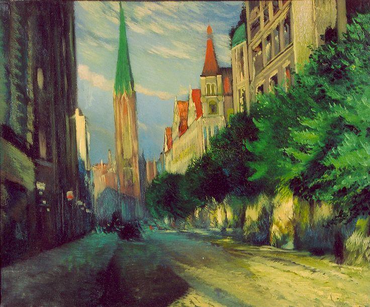 Ludolfs Liberts. Ģertrūdes iela Rīgā. Bez datējuma. 60x73,5.Latvijas Nacionālā mākslas muzeja kolekcija.