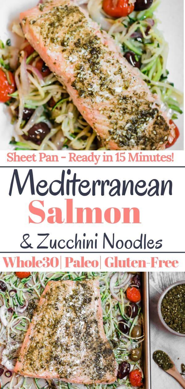 Mediterraner Pfannenlachs mit Zucchininudeln, 15 Minuten zu einem …