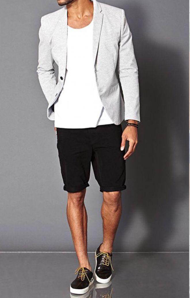 look masculino blazer bermuda: