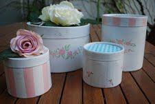 Tienda Frufru: set de cajas redondas pintadas