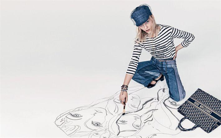 Download wallpapers Sasha Pivovarova, 4k, supermodels, 2018, beauty, blonde, photoshoot