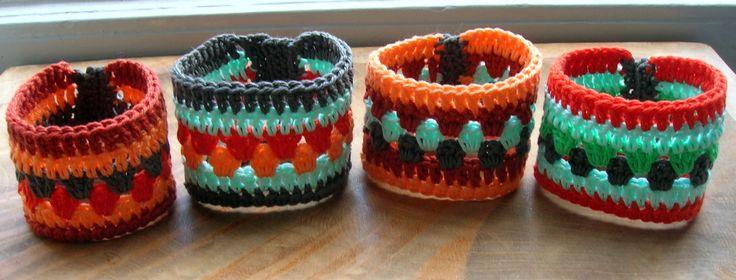 Diverse Ibizastyle gehaakte Bella-armbanden, zo leuk om te maken !