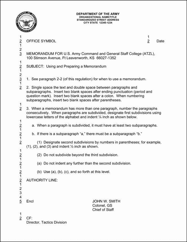 Army Memorandum For Record Template New 10 Best Of Army Informal Memorandum Example Essay Format Memorandum Cover Letter For Resume