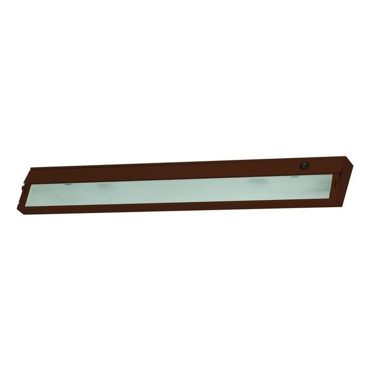 Titan Lighting Zeeline 4-Lamp Xenon Bronze Under Cabinet Light with Diffused Glass