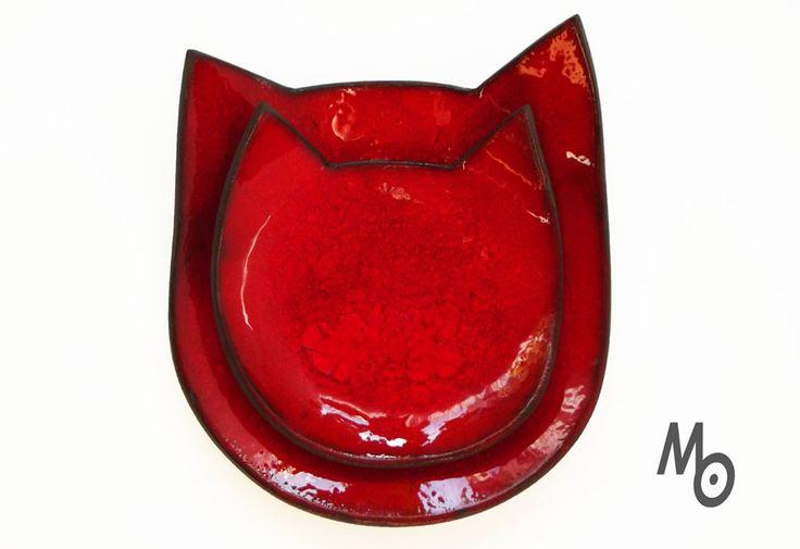 Cat dishes Małgorzata Orlik www.ceramika-opole.pl