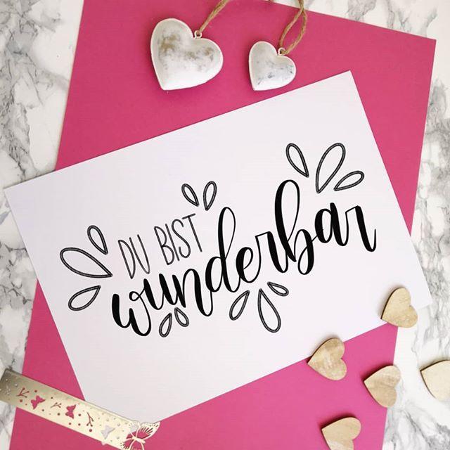 Du bist wunderbar – Handlettering #Handlettering #…