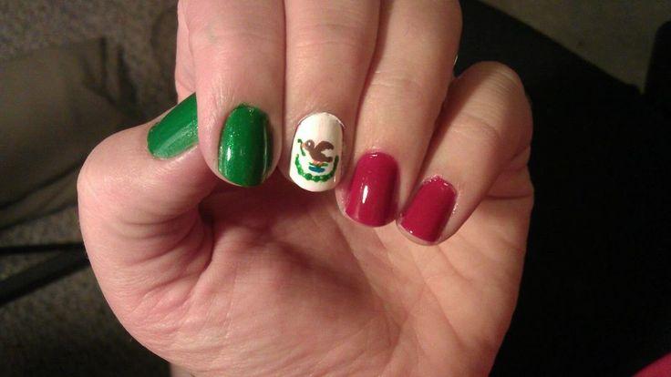 Más de 25 fotos de uñas decoradas con los colores de México | Decoración de Uñas - Nail Art - Uñas decoradas