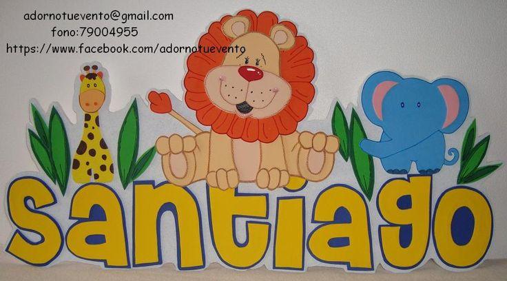 Letrero personalizado con base de plumavit y figuras en goma eva, realizado para un baby shower.