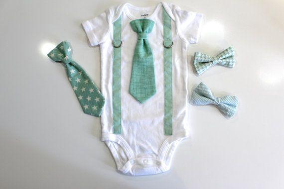 MINT Baby Boy Outfit. Mint Baby Tie. Mint Boy by CuddleSleepDream