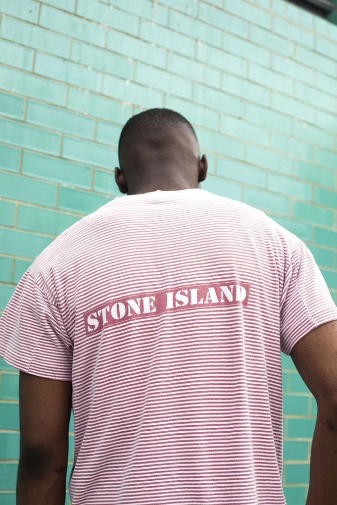 Image of VINTAGE 80'S STONE ISLAND STRIPED T-SHIRT