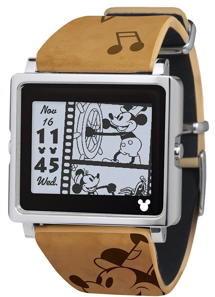 EPSON smart canvas Mickey Mouse Vintage Series Brown Watch W1 - DY10110 Japan  #EPSON