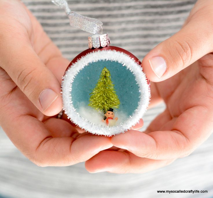 Check this method of making little masterpieces in the Christmas tree ornaments!