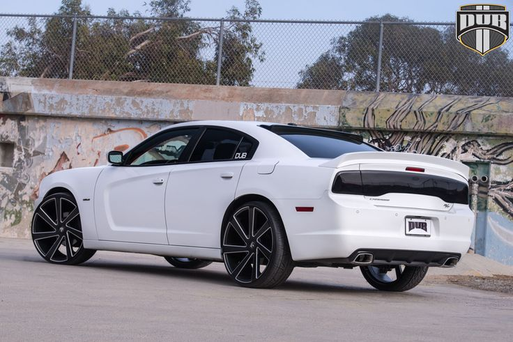 inspiration on this white dodge charger a new set of dub wheels was the perfect choice to visually add a touch of muscle and power the seven spo - 2013 Dodge Charger Black Rims