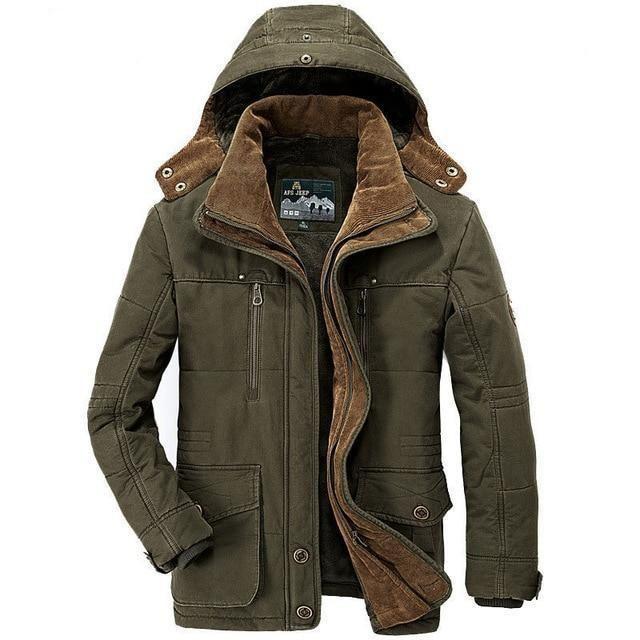 Mens Winter Outdoor Coat Detachable Hood Fleece Lined Casual Jacket Sz S M L XL
