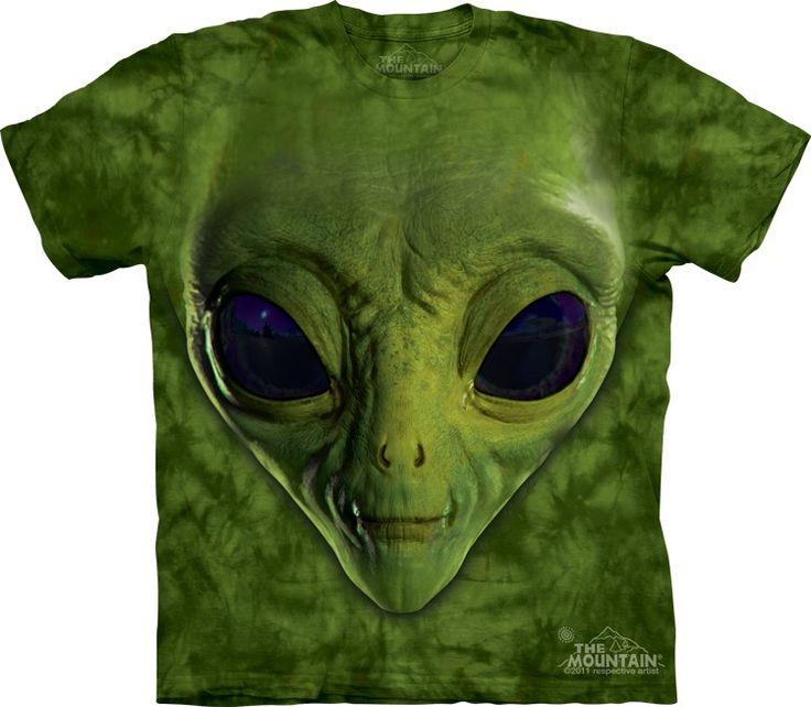 Green Alien T-Shirt - Alien T-Shirts - tees - green t-shirts - funnny tshirts - fantasy t-shirts - scary t-shirts - zombie t-shirts - death t-shirts - gift ideas for christmas - ideas for christmas - unicorn t-shirts - robot t-shirts - epic t-shirts