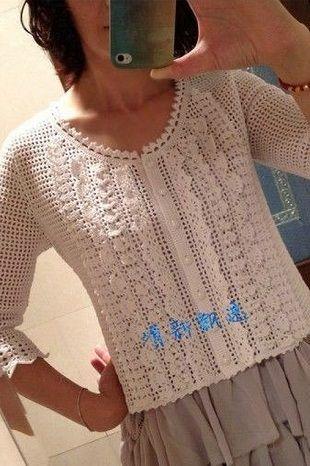 Pretty White Lace Crochet Jacket