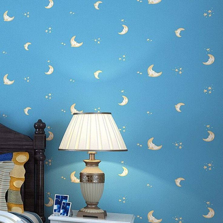 Cheap wallpaper modern, Buy Quality boy wallpaper directly from China wall wallpaper Suppliers: beibehang stars moon female cartoon boy wallpaper brief modern sofa background wall wallpaper Wall Stickers Living Room Bedroom
