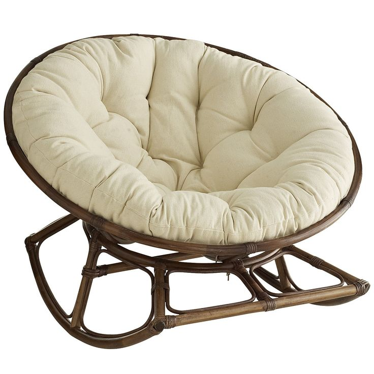 A Papasan that rocks??!! Uh, yes please!!! Rockasan® Chair - Brown
