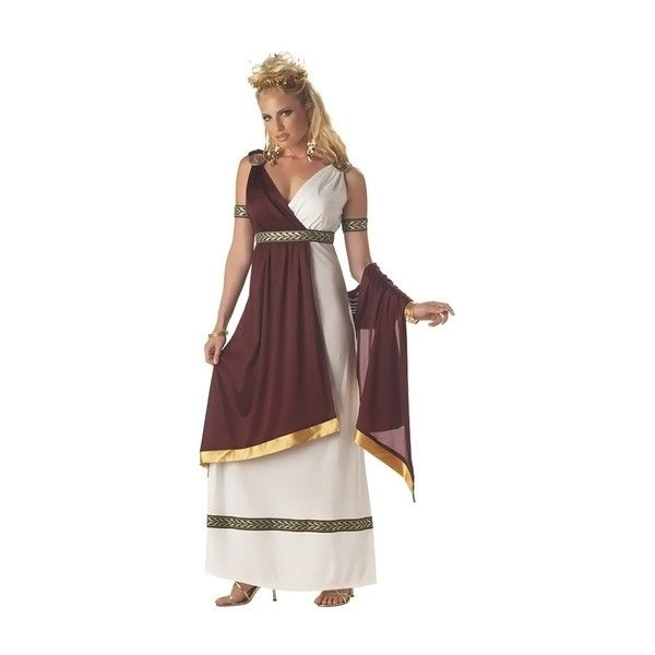 Women's Halloween Costume Roman Empress Women S ($39) ❤ liked on Polyvore featuring costumes, adult costumes, party city womens costumes, toga party costume, lady adult costume and roman empress costume
