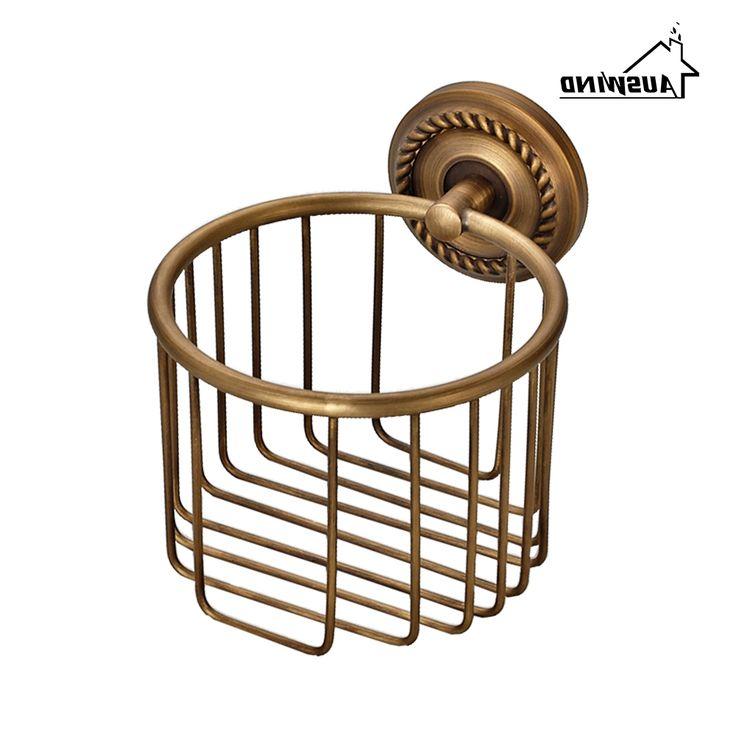 28.79$  Buy here - https://alitems.com/g/1e8d114494b01f4c715516525dc3e8/?i=5&ulp=https%3A%2F%2Fwww.aliexpress.com%2Fitem%2FLuxury-Bathroom-Toilet-Paper-Holder-Copper-Antique-Toilet-Paper-Rolls-Bathroom-Paper-Storage-Basket-Bathroom-Accessories%2F32708293340.html - Luxury Bathroom Toilet Paper Holder Copper Antique Toilet Paper Rolls Bathroom Paper Storage Basket Bathroom Accessories 28.79$
