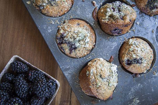 Blackberry Muffin Recipe | Whole Wheat Muffin Recipe | Eat the Love