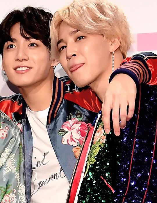 ☆〜JUNGKOOK x JIMIN // BTS at the 2017 American Music Awards Press Room at Microsoft Theater on November 19, 2017 in Los Angeles. ★彡