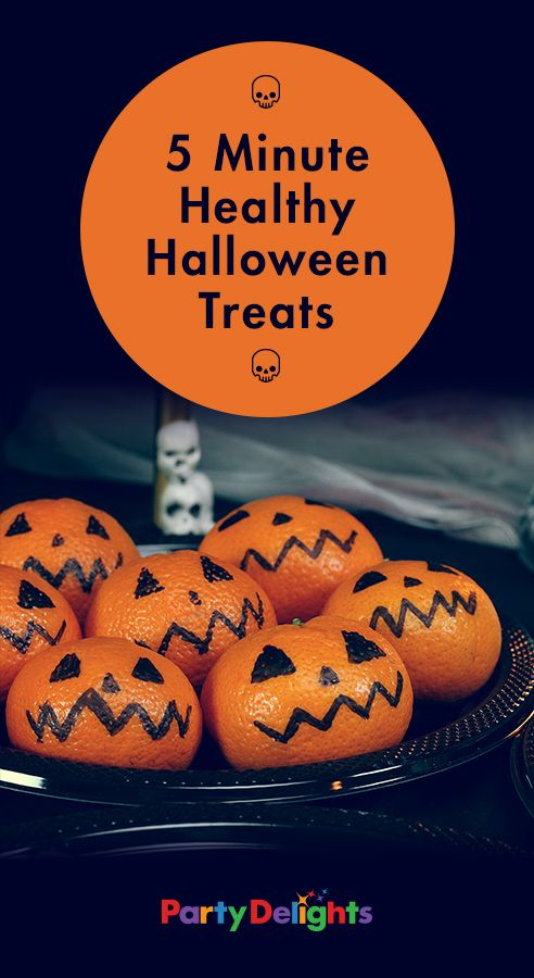 If you're eager to avoid too many sugary treats this Halloween, check out these healthy Halloween treats that take under 5 minutes to make!