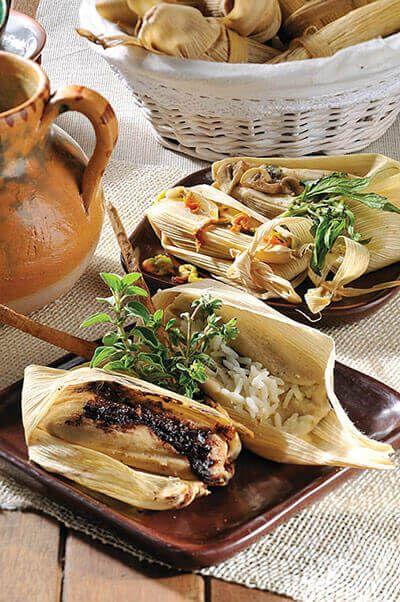 Receta de Tamales de champiñones y de flor de calabaza - Cocina con Alegría