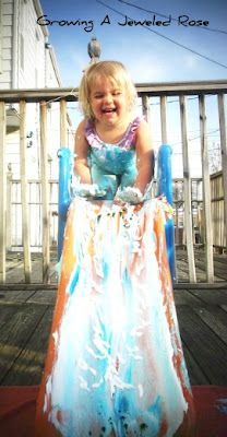 Shaving Cream Slide DIY Kids Activities Summer