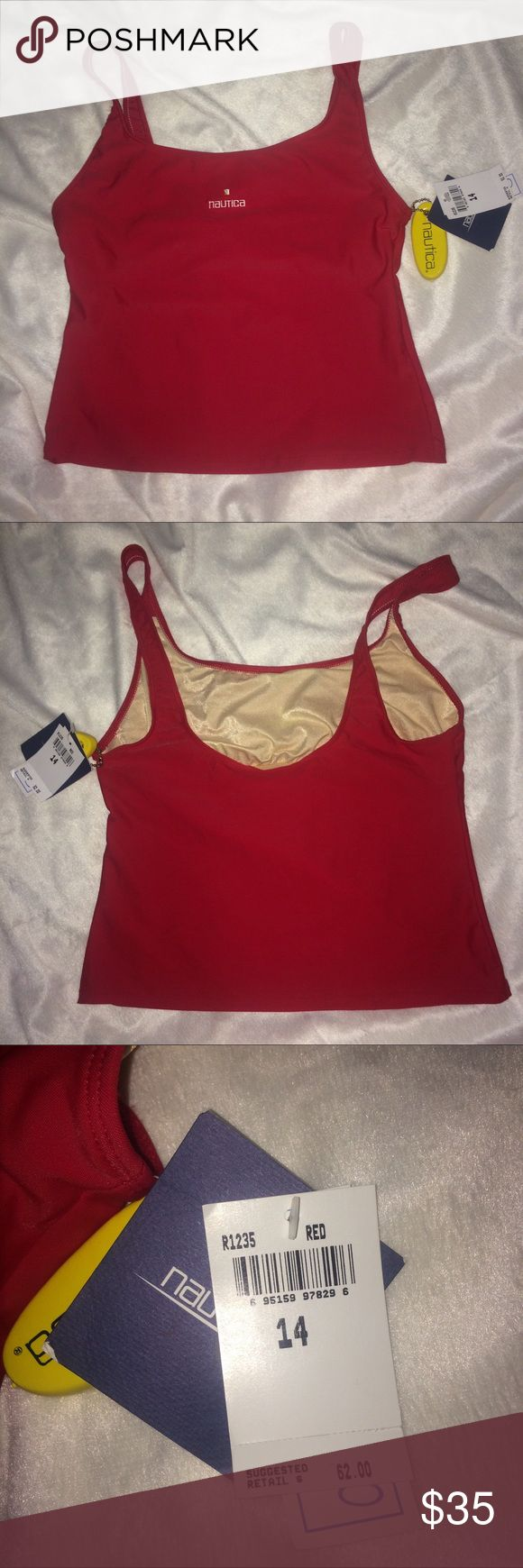 NWT Nautica Tankini Top NWT Red Nautica Tankini top only. Retails for $62 Nautica Swim