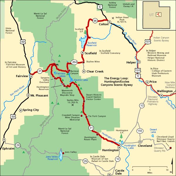 Scenic Map Gorge Byway River Columbia