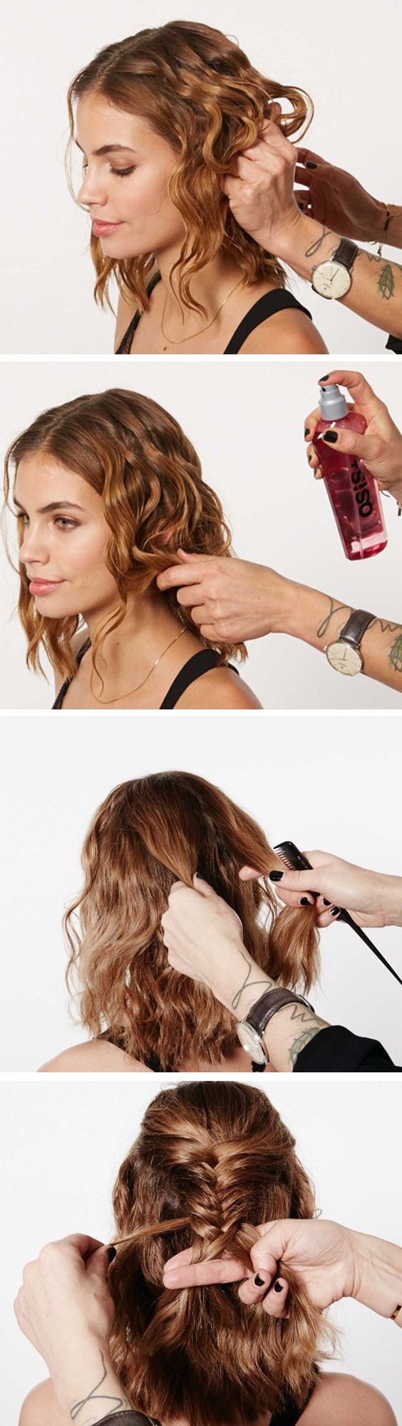Tuto coiffure headband cheveux courts fashion designs - Tuto coiffure cheveux court ...