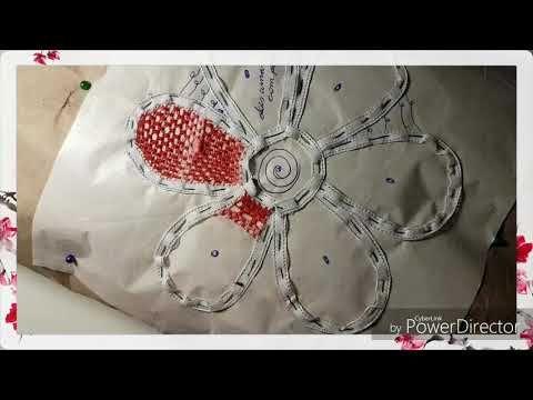 Artesanato RENDA Renascença passo a passo como fazer pontos diferentes com dois amarrado-DIY - YouTube