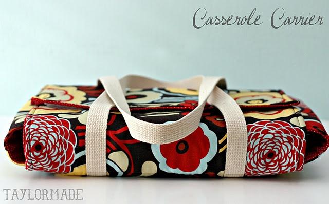 super cute casserole carrier tutorial!  What a great idea!