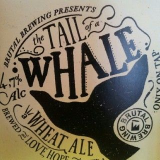 Tail Of The Whale - Brutal Brewing | mango and hay, thick , hazy, fruity.