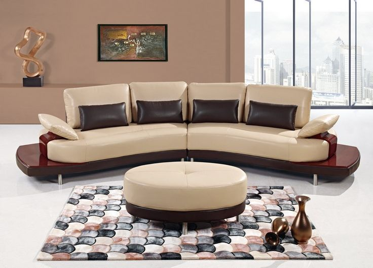 fabulous brown sectional sofa cheap round coffee table black cushion leather