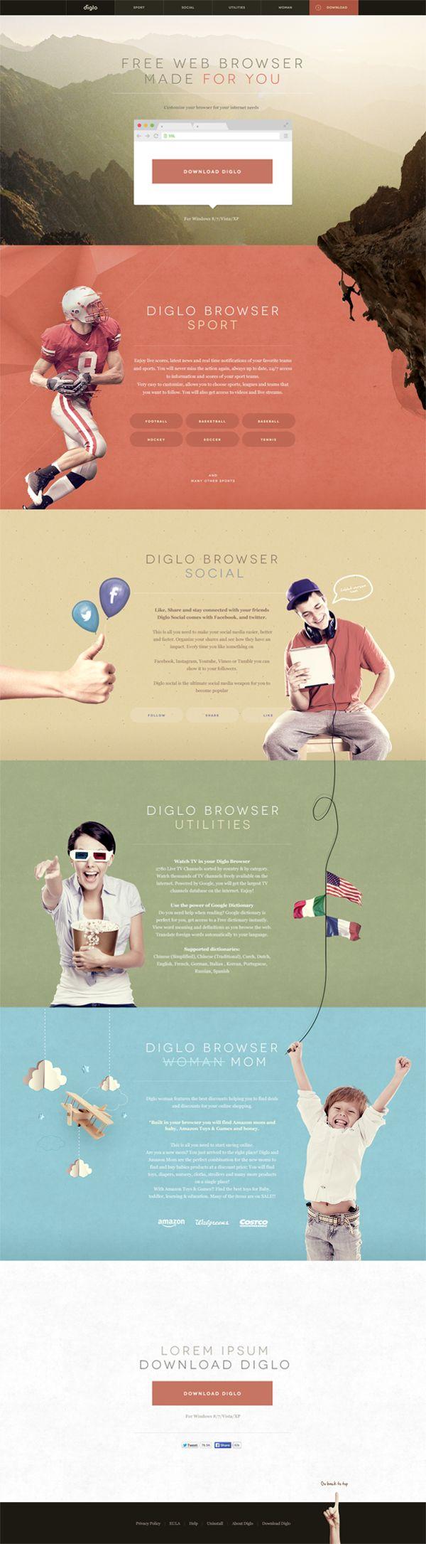Diglo.com redesign.