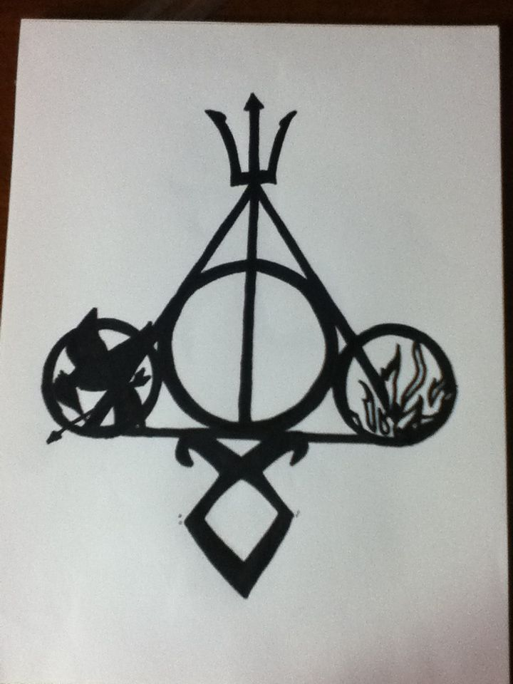 Harry Potter, Percy Jackson, The Mortal Instruments, Divergent, and The Huger Games!!!!! Drawn by Julia McCuaig.