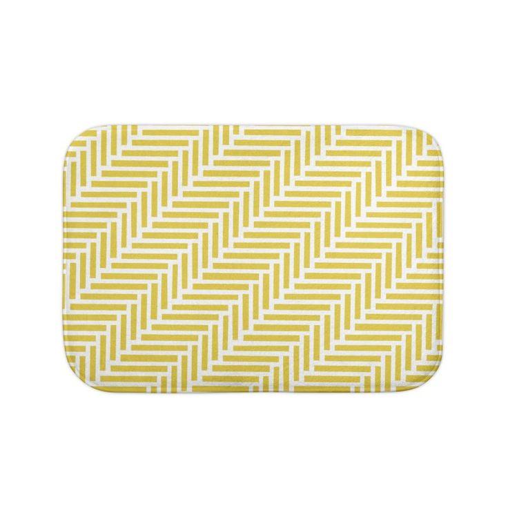 Herringbone Yellow Bath Mat by Project M $20