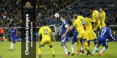Agen Bola - Tim tuan rumah Maccabi Tel Aviv dipaksa menelan pil pahit kekalahan setelah takluk 0-4 atas tamunya klub peserta Liga Inggris Chelsea dengan skor akhir 0-4 pada pertandingan lanjutan babak penyisihan Grup G Champions League 2015/16 yang berlangsung dini hari tadi di Bloomfield Stadium.