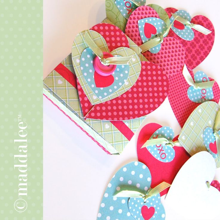 Valentine Decorated Boxes: Paper Arts, SVG Files, Silhouette Print & Cut Files