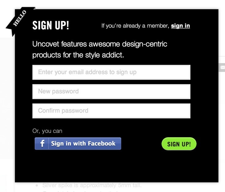 sign in #modal from shop.uncovet.com