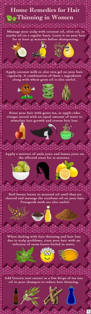 12 Home remedies for hair thinning in women......hopefully I never need them but, I know I will.