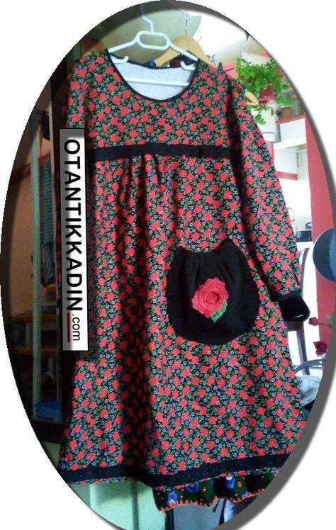 Otantik Kırmızı Çiçekli Pazen Elbise -011216 | Otantik Kadın, Otantik Giysiler, Elbiseler,Bohem giyim, Etnik Giysiler, Kıyafetler, Pançolar, kışlık Şalvarlar, Şalvarlar,Etekler, Çantalar,şapka,Takılar
