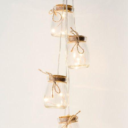 Firefly Mason Jar Fairy Light Cluster