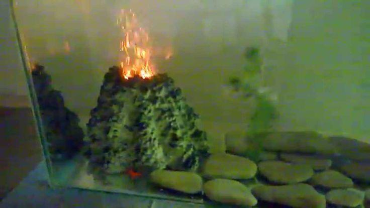 """Грот """"Вулкан"""" для распылителя с подсветкой. Материал цемент."""