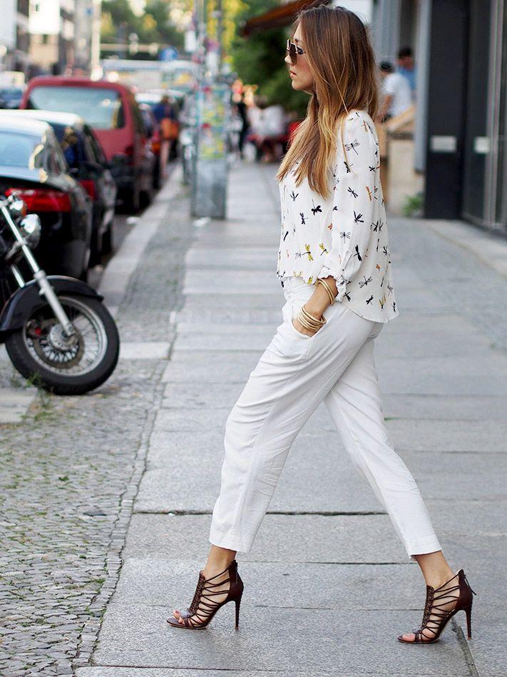 #white #wideleg #pants #culottes #zara #trends #autumn #fall #2015 #berlin #streetstyle #allwhite