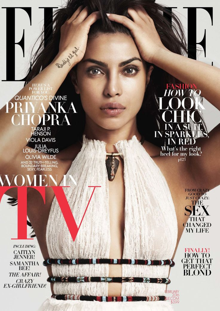 """""""Why should a woman have to pick between global domination and having the love of her life?"""". PRIYANKA CHOPRA. Meet ELLE's 2016 Women in TV - ELLE.com"""