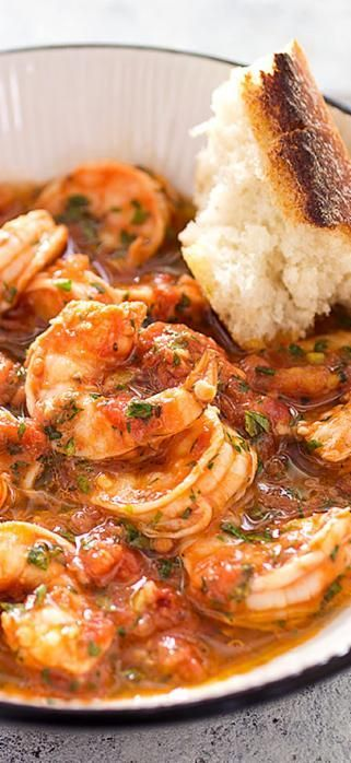 Shrimp Fra Diavolo. Creating a quick stock from browned shrimp shells amped up the flavor in our Fra Diavolo sauce.